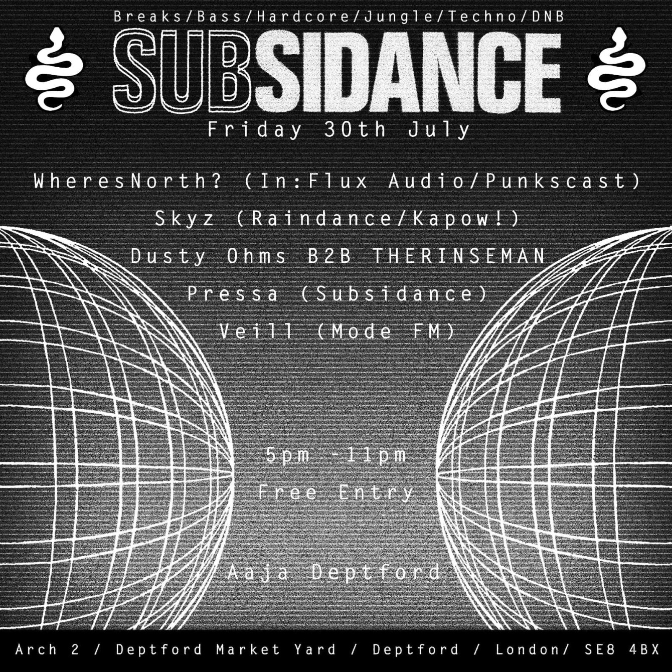 Subsidance - Flyer front