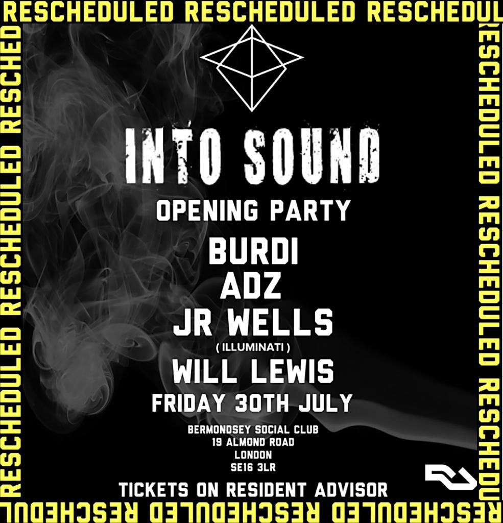 Into Sound - Flyer front