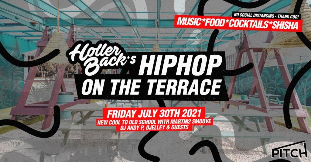Holler Back Hiphop Summer Terrace - Flyer front