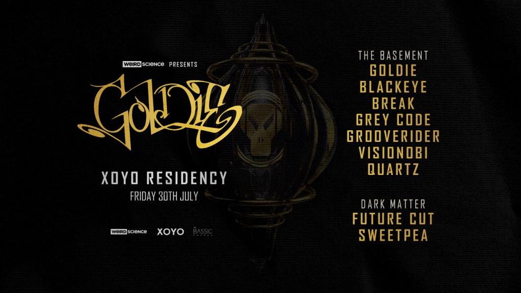Goldie Xoyo Residency (Week 2) - Flyer front