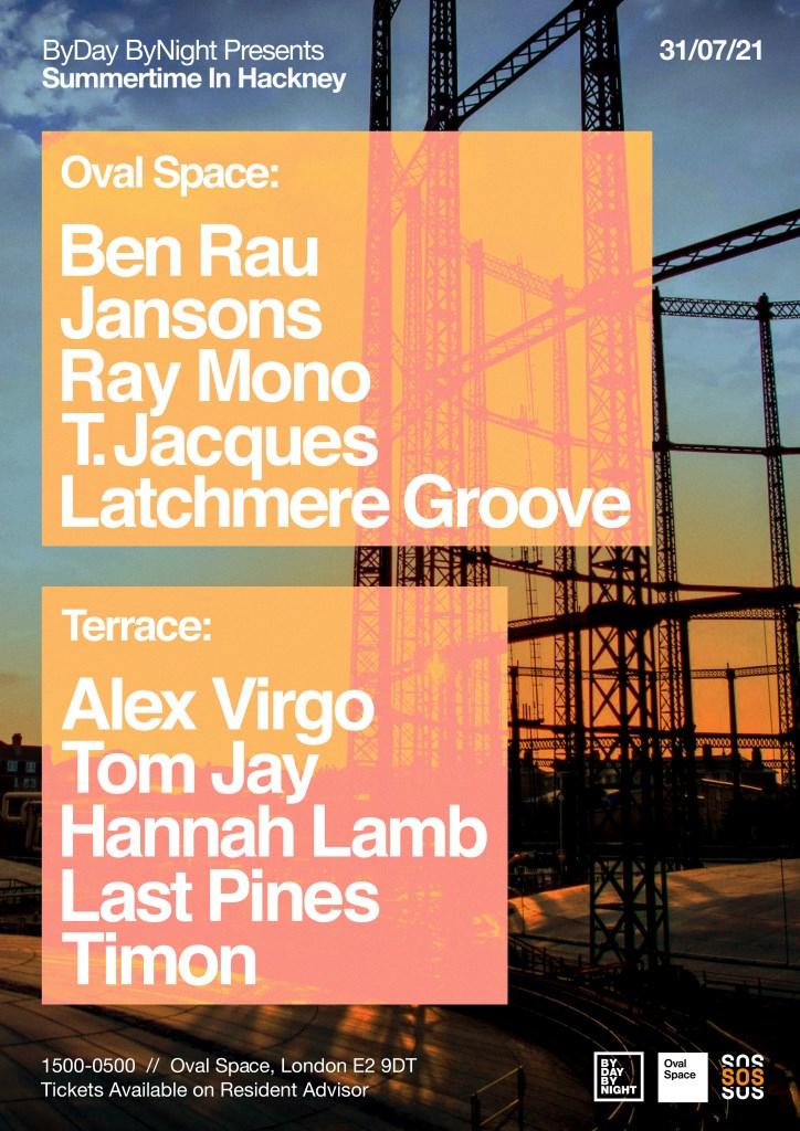 Byday Bynight presents: Summertime in Hackney - Flyer back