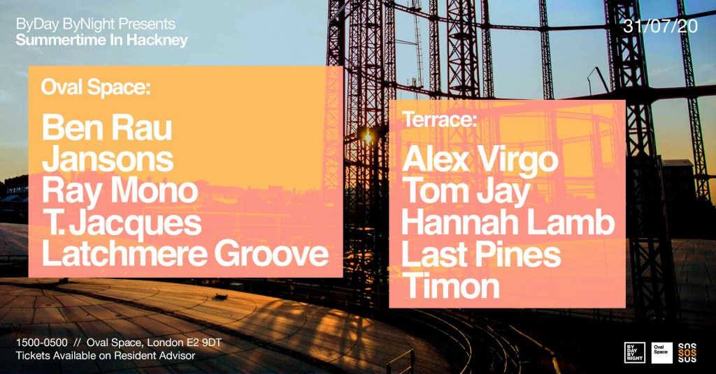 Byday Bynight presents: Summertime in Hackney - Flyer front