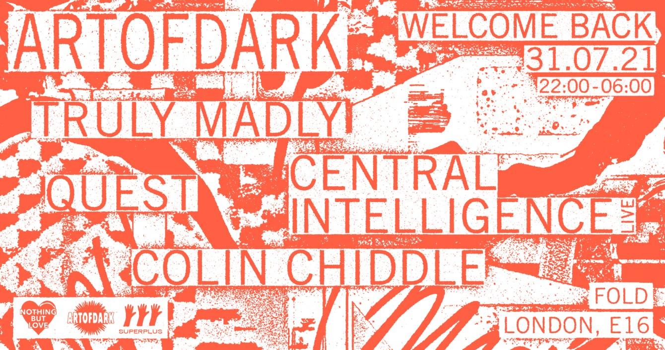 Art of Dark - Welcome Back - Flyer front