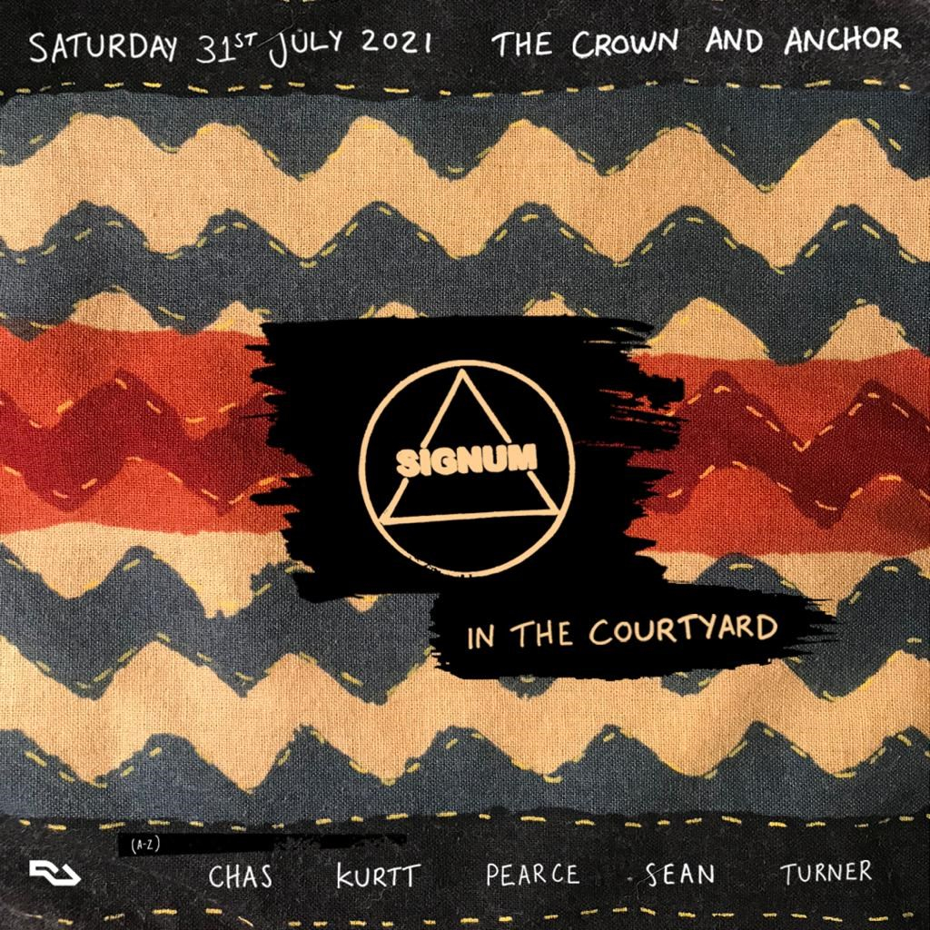Signum in The Courtyard - Flyer front