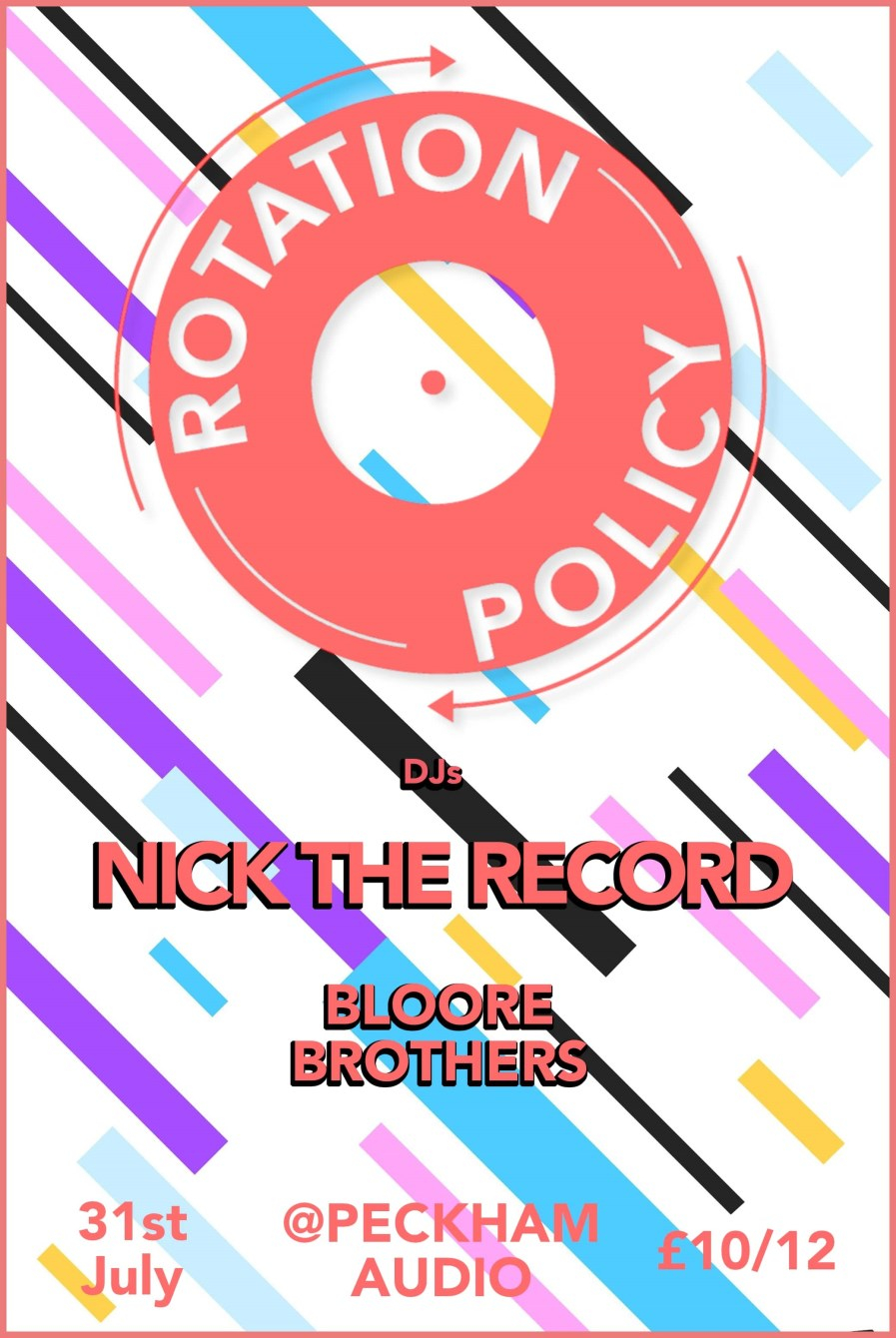 Rotation Policy: Peckham Rye Funk with Nick the Record - Flyer back