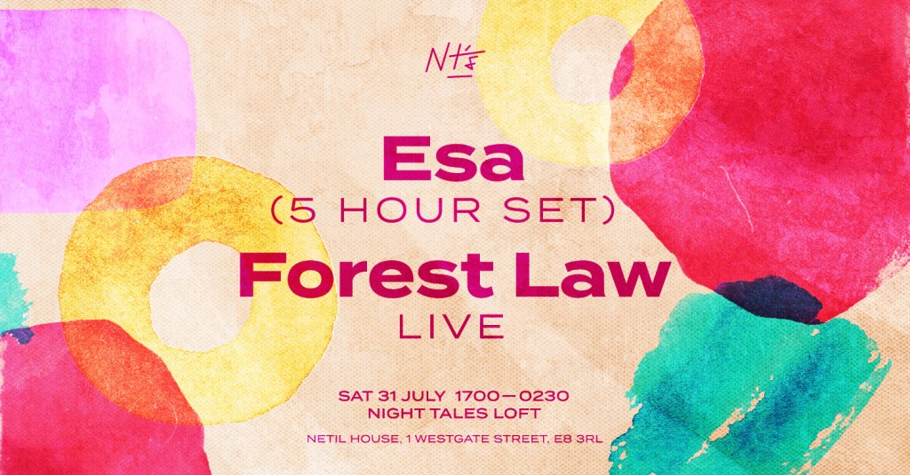 in the Loft: Esa [5HR set] & Forest Law [Live] - Flyer front
