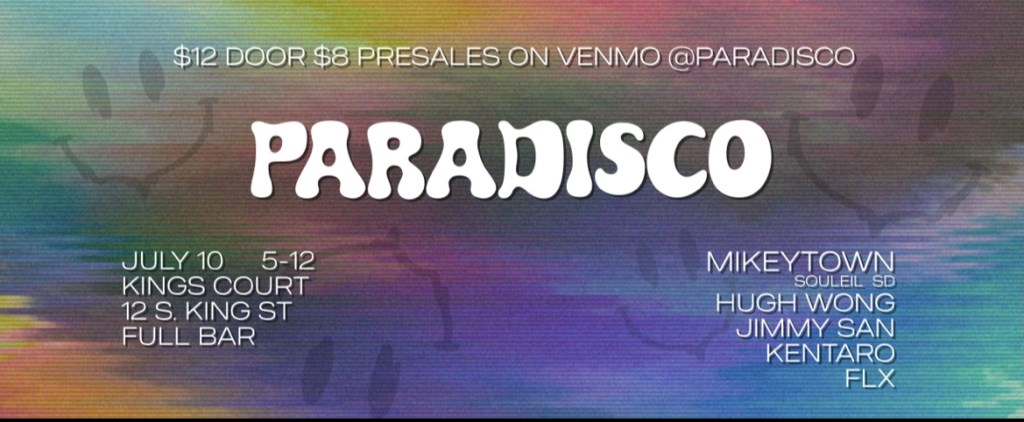 Paradisco at Kings Court with Mikeytown (Souleil, SD) - Flyer front
