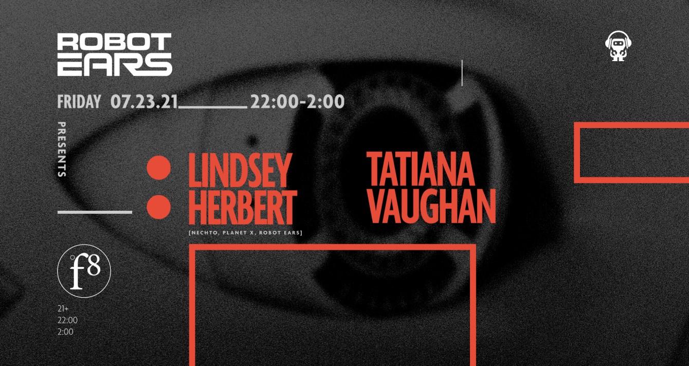 Robot Ears: Lindsey Herbert + Tatiana Vaughan - Flyer front