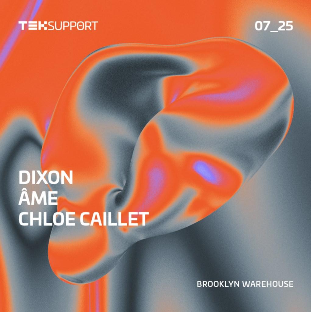 Teksupport: Dixon, Âme & Chloe Caillet - Flyer back
