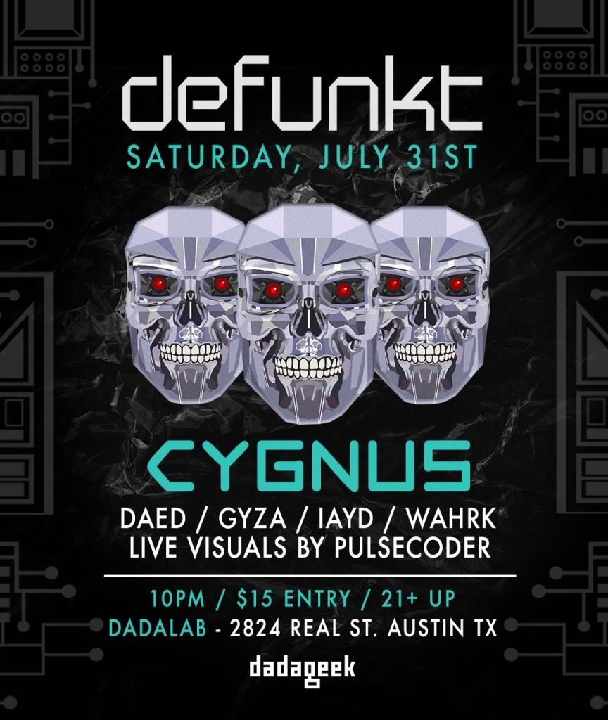 DEFUNKT @ dadaLab feat. Cygnus - Flyer front