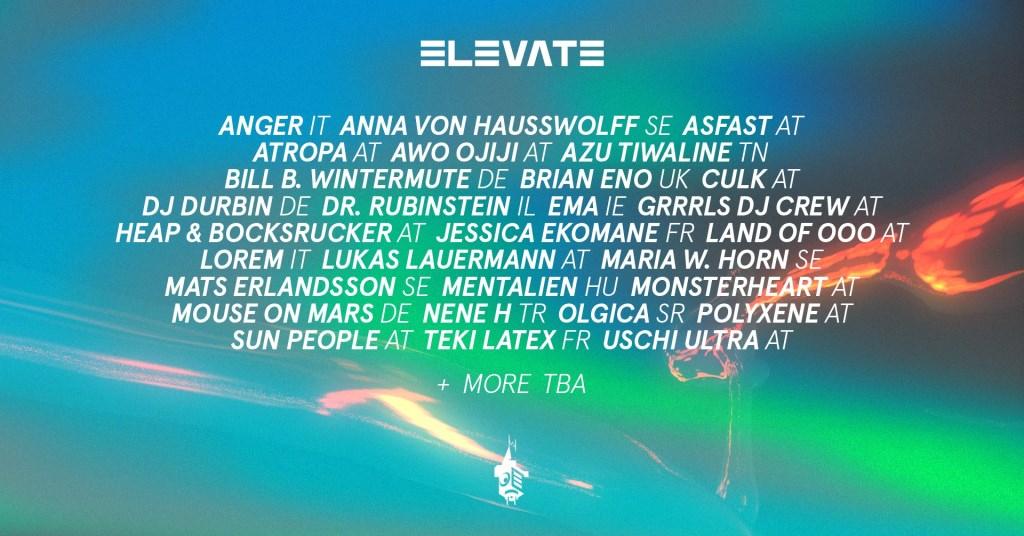 Elevate Festival 2021 - Flyer back