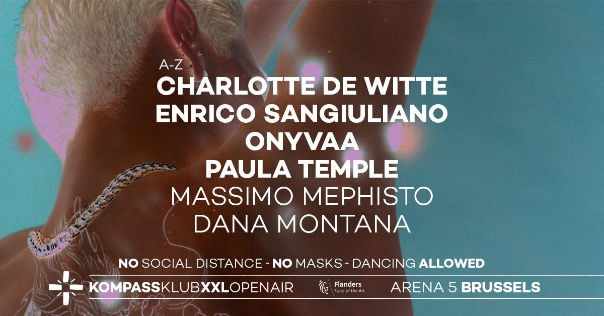 Kompass XXL Open Air • Charlotte de Witte, Enrico Sangiuliano, Paula Temple & More - Flyer front