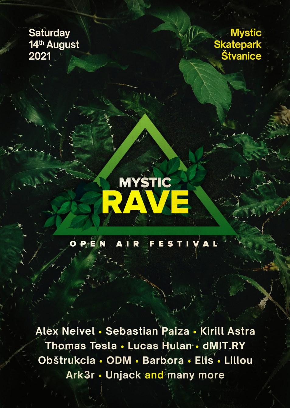 Mystic Rave 2021 - Flyer front