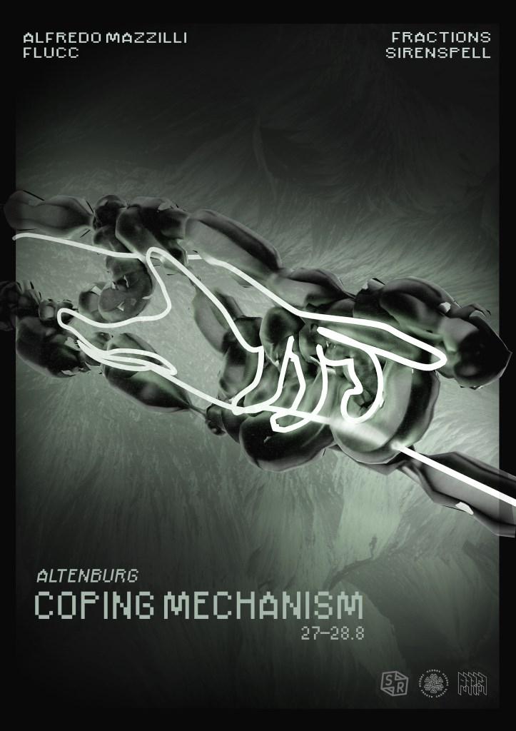 Coping Mechanism - Alfredo Mazzilli, Fractions, Flucc, Hardlaska - Flyer front