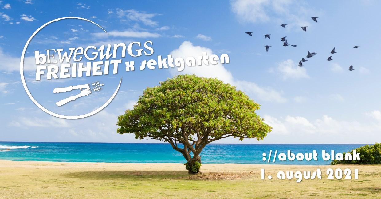 Bewegungsfreiheit x Sektgarten - Flyer front