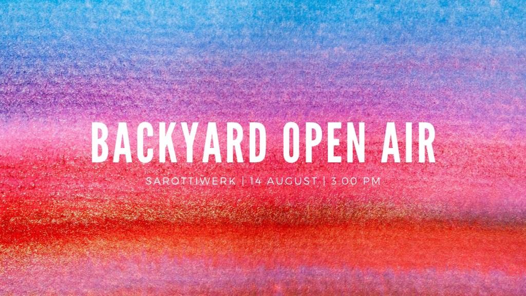 Backyard Open Air - Flyer front