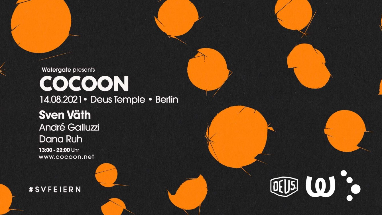 [CANCELLED] Watergate Pres. Cocoon Deus Temple with Sven Väth, André Galluzzi & Dana Ruh - Flyer front