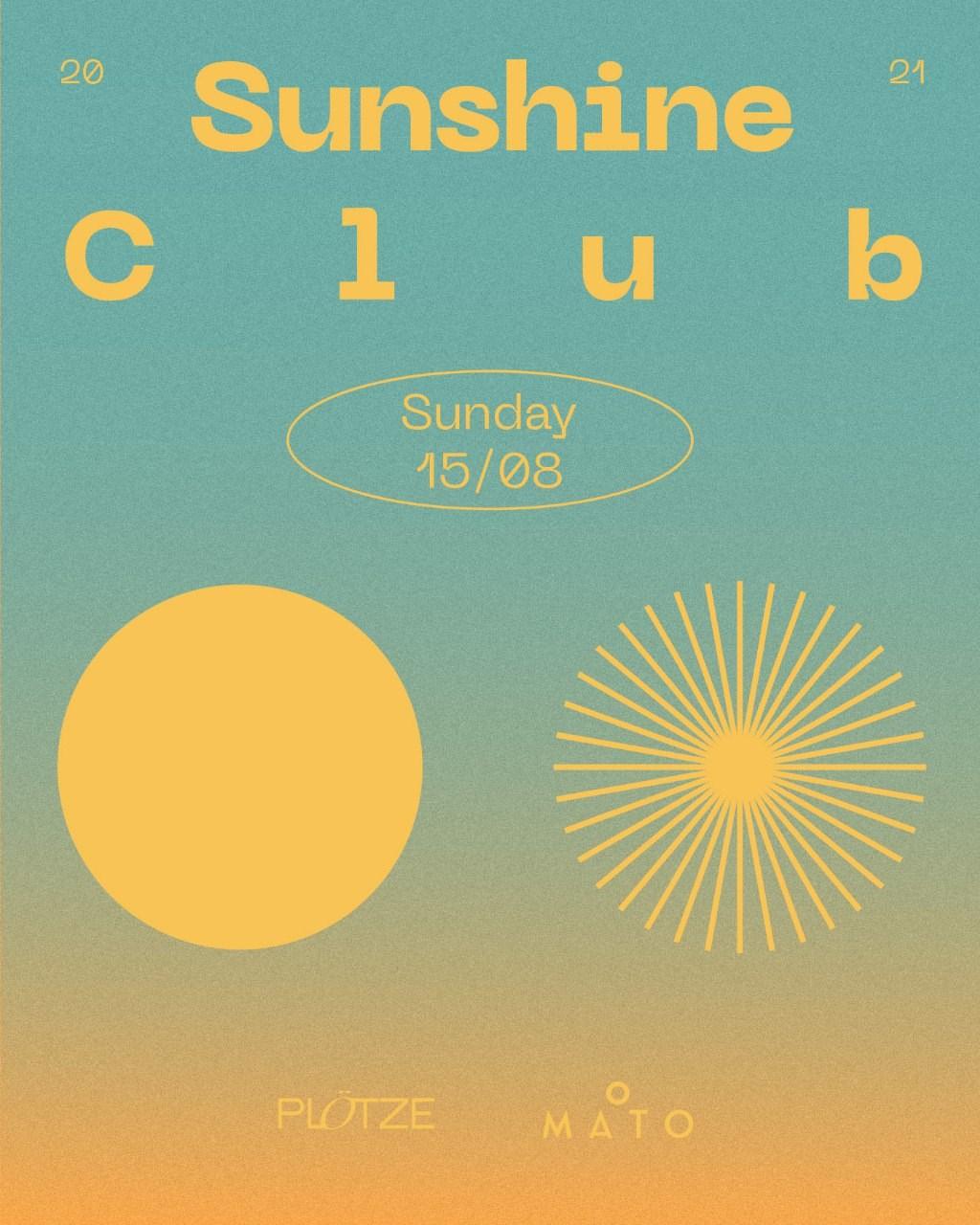 Sunshine Club - Flyer front