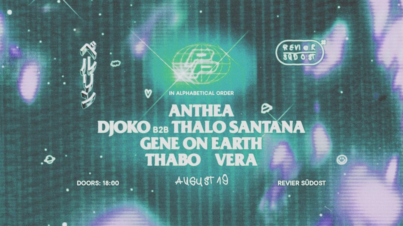 Planet Pleasure with Anthea, Djoko, Gene On Earth, Vera - Flyer front