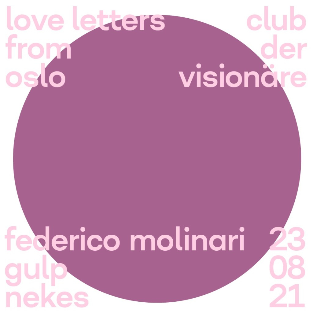 Love Letters From Oslo - Flyer front