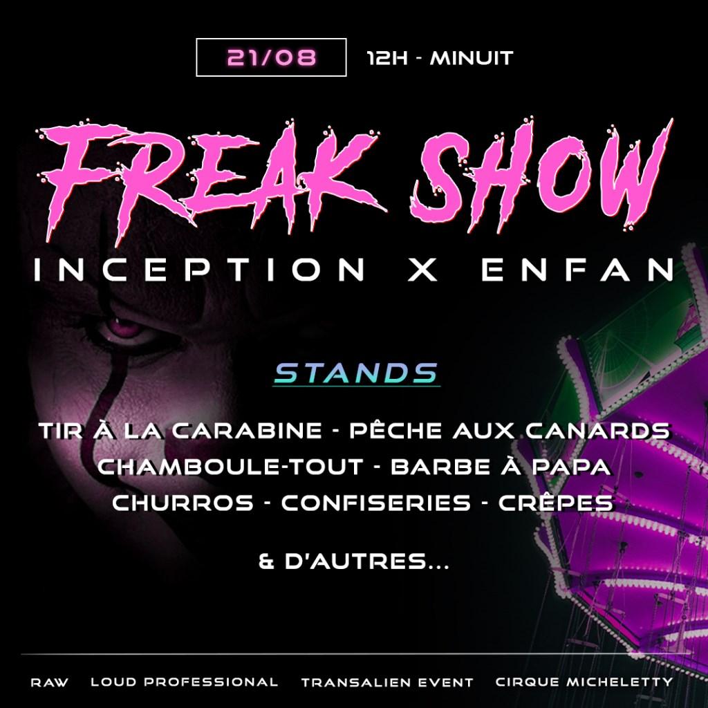 Inception X Enfan: Freak Show - Flyer back