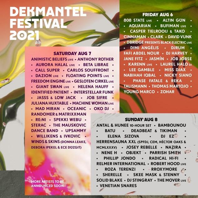 Dekmantel Festival 2021 - Flyer front