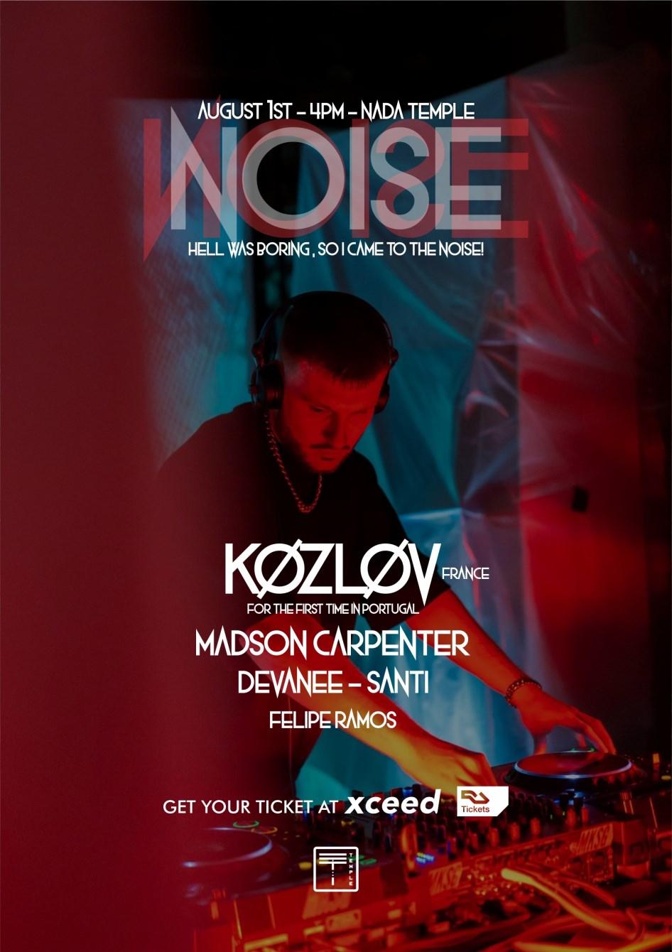 Noise W/ KØZLØV - Flyer front