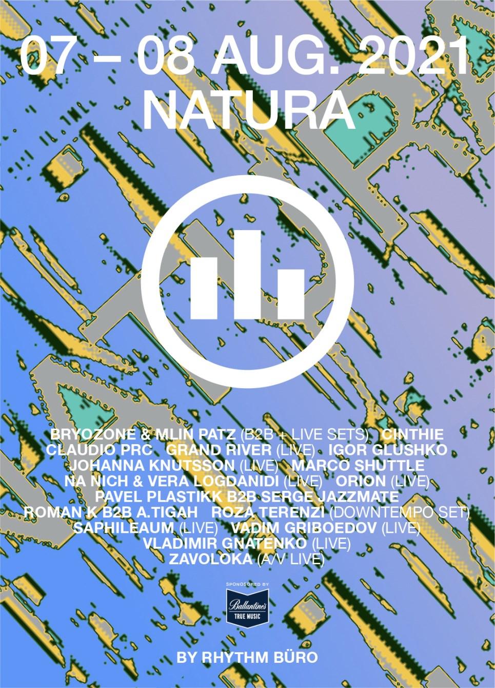 Rhythm Büro: Natura 2021 - Flyer front