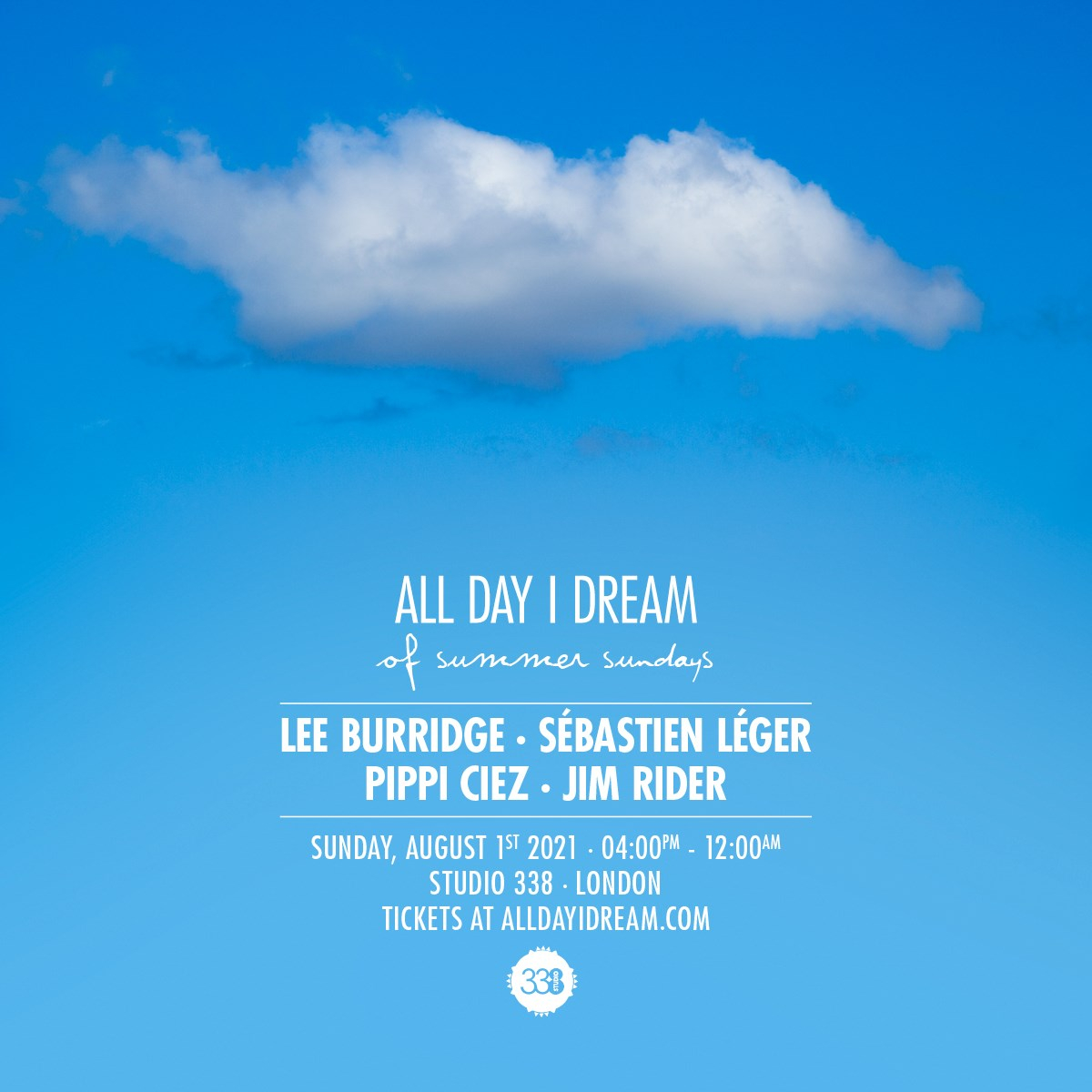All Day I Dream - Of Summer Sundays - Flyer front