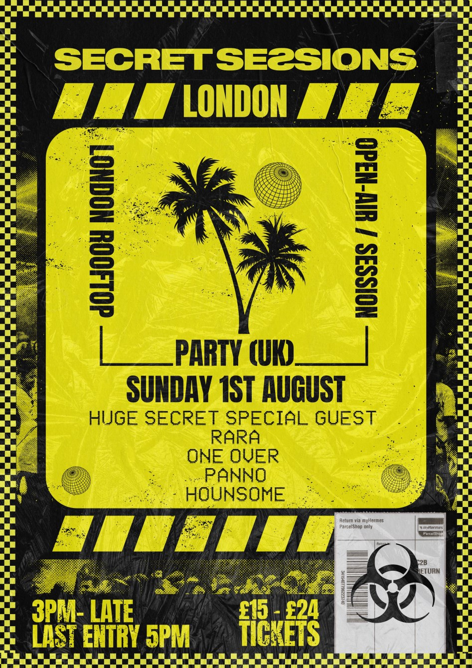 Secret Sessions - London /// Rooftop Party - Flyer front