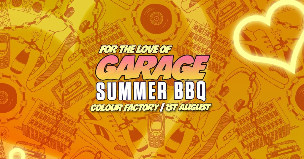 UK Garage Summer BBQ with Wookie, Sticky, Redhot & Mighty Moe - Flyer front
