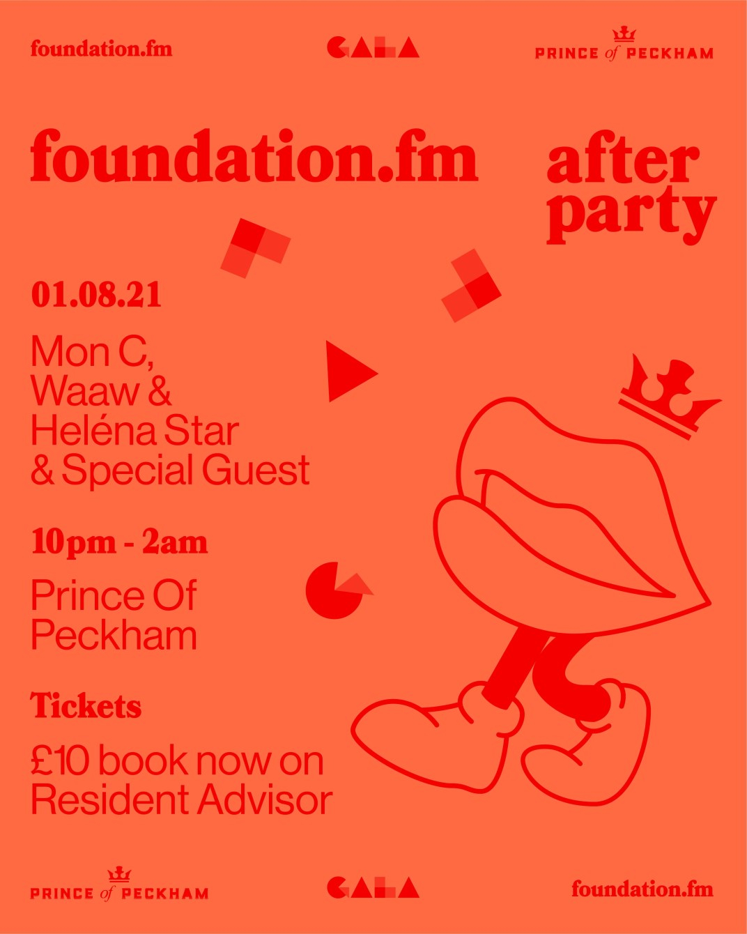 Foundation.Fm's GALA Afterparty - Flyer front
