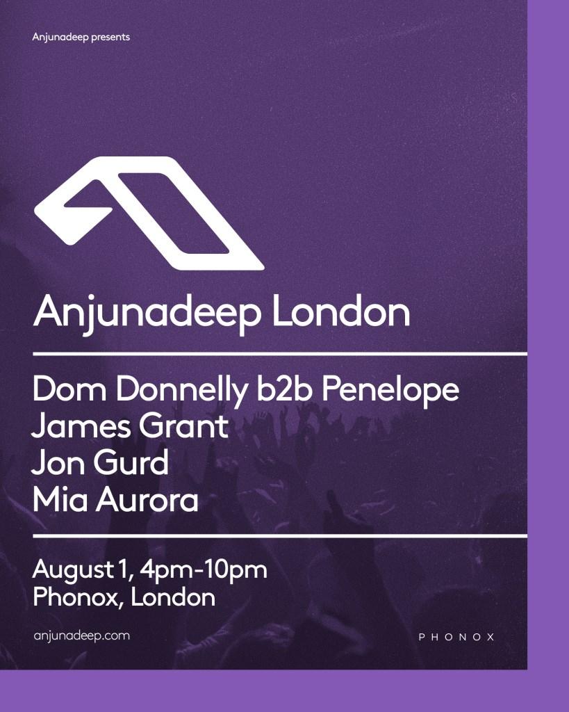 Anjunadeep - London - Flyer front
