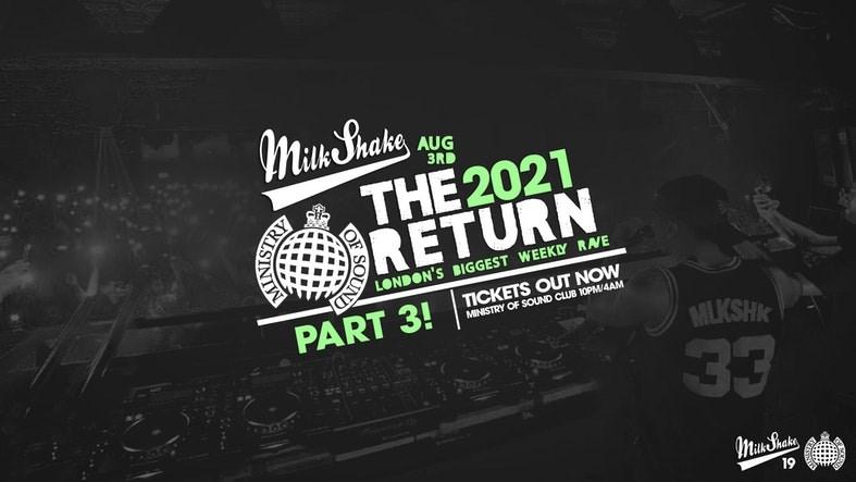Milkshake, Ministry of Sound - Official Return Part 3 - Flyer front