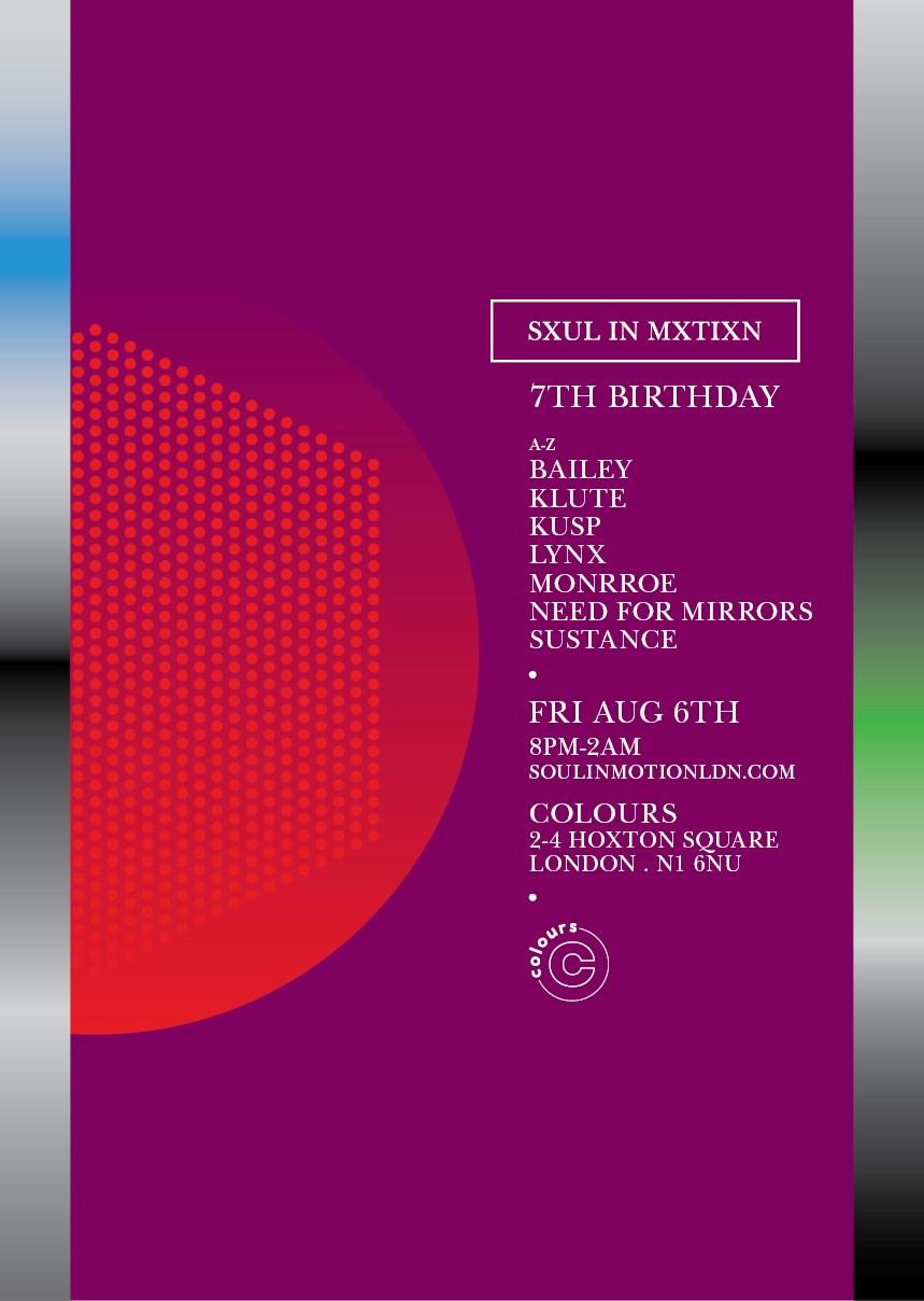 Soul In Motion: 7th Birthday - Flyer back