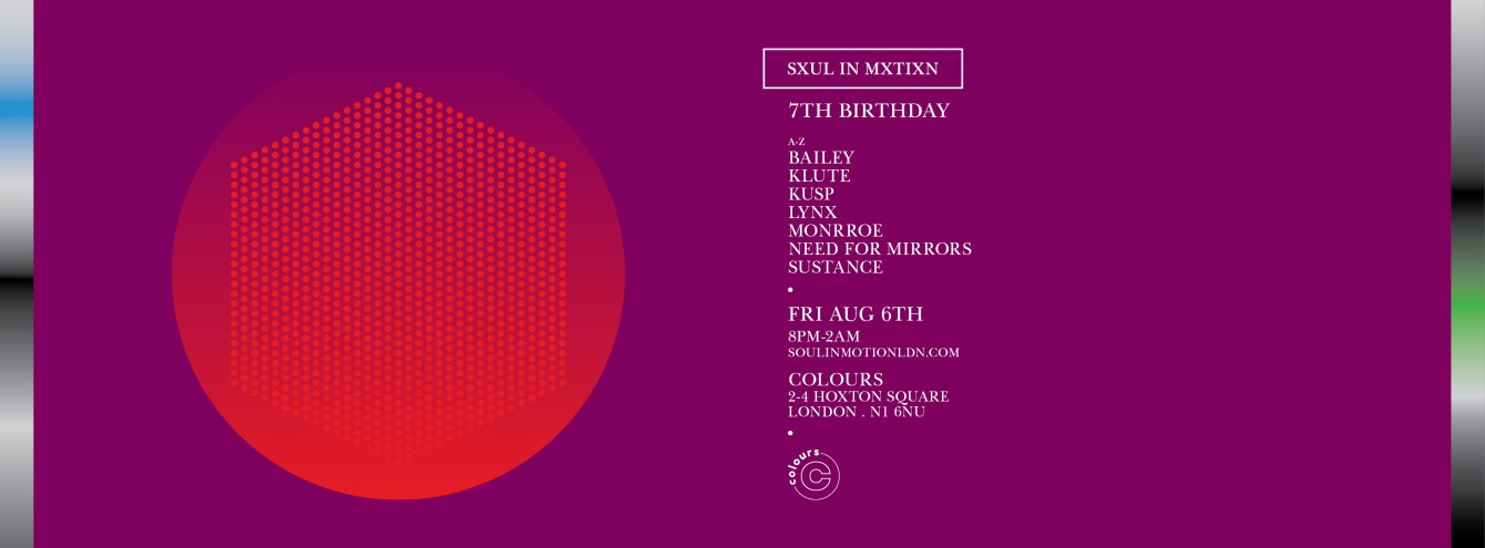 Soul In Motion: 7th Birthday - Flyer front
