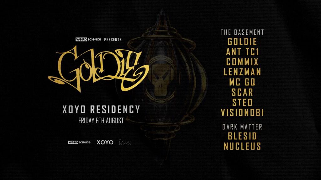 Goldie Xoyo Residency (Week 3) - Flyer front