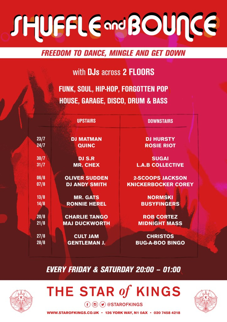 Shuffle & Bounce - Flyer front
