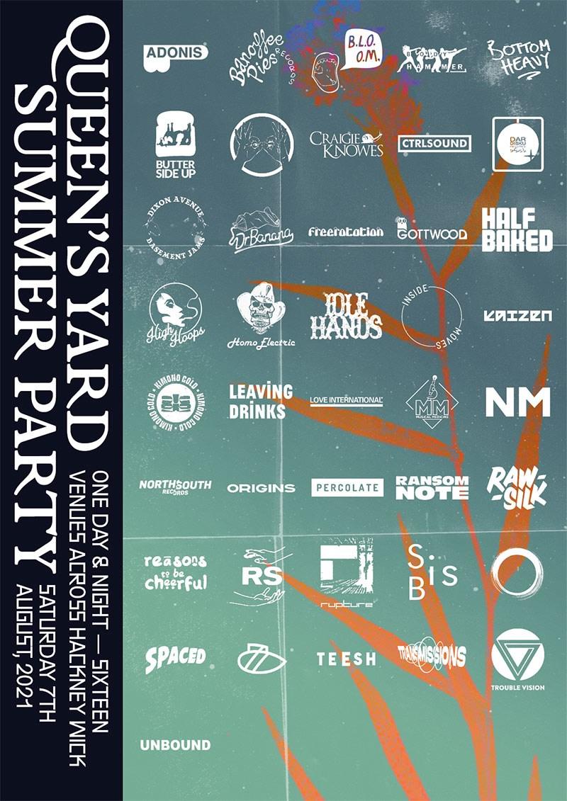 Queen's Yard Summer Party 2021 - Flyer front