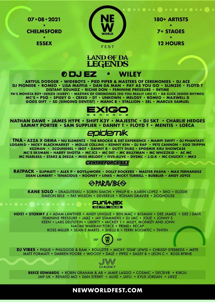 New World Fest - Flyer front