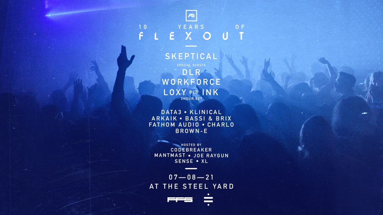 Sold Out: 10 Years of Flexout - Flyer front