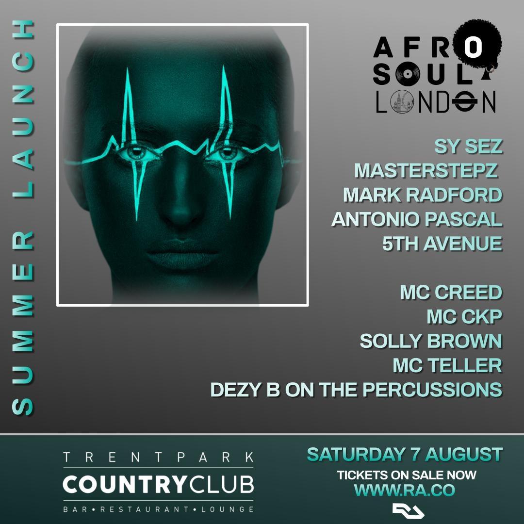 Afro Soul London - Flyer front