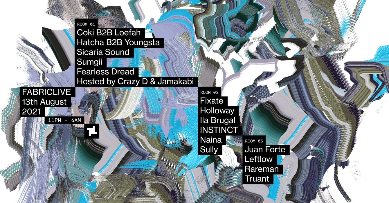 FABRICLIVE: Coki b2b Loefah,Youngsta b2b Hatcha, Sicaria Sound, Sully, Juan Forte & More - Flyer front