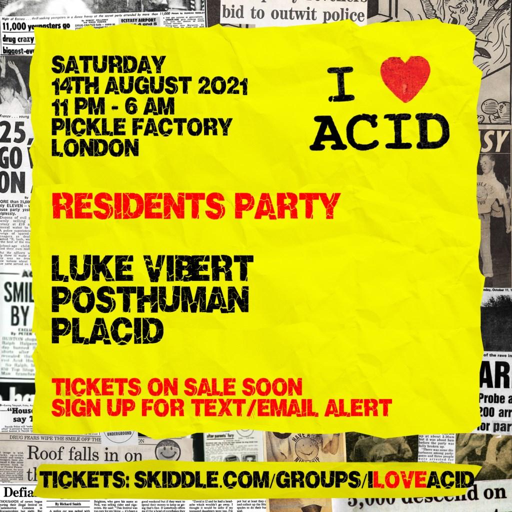 I Love Acid - Residents Party - Flyer back