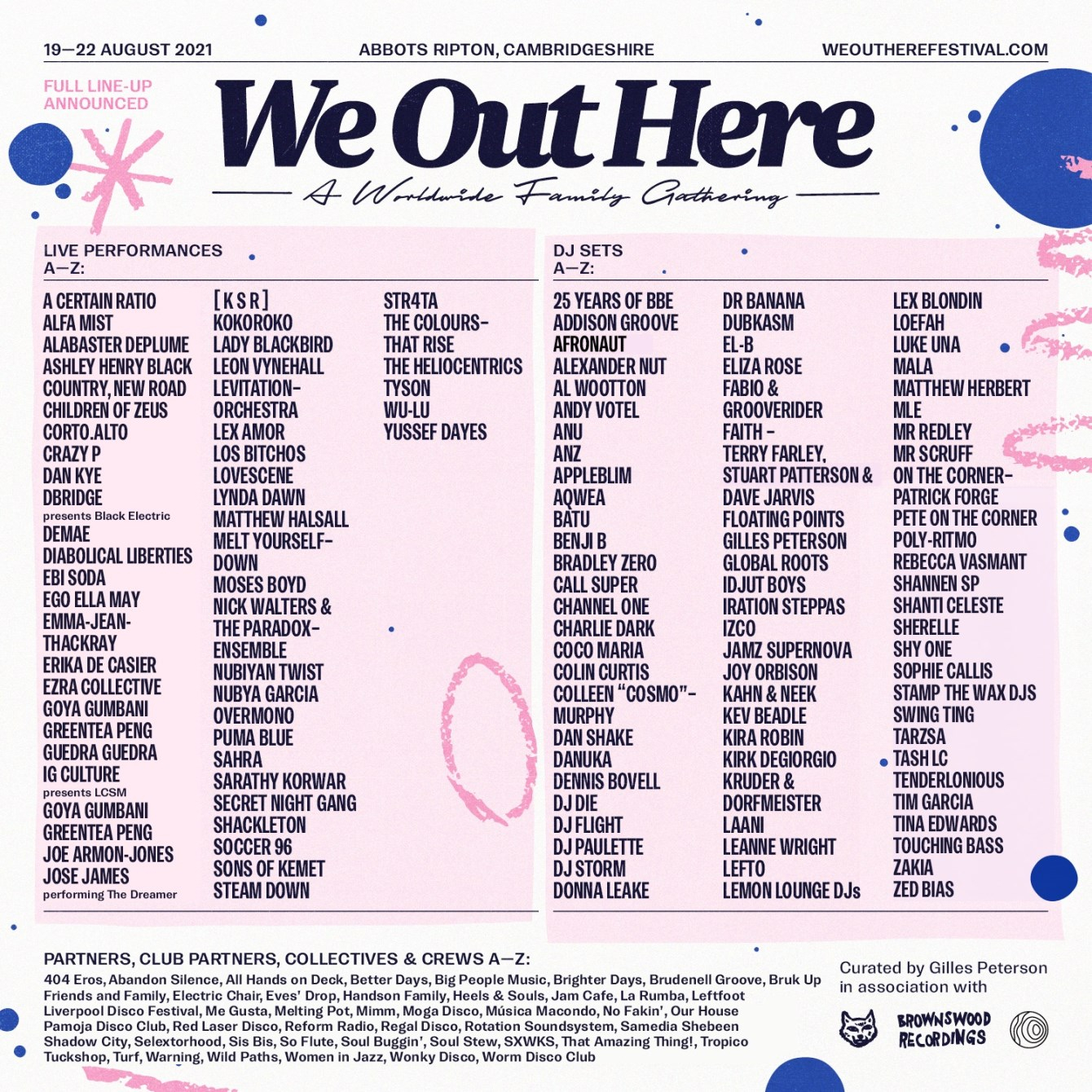 We Out Here Festival 2021 - Flyer front