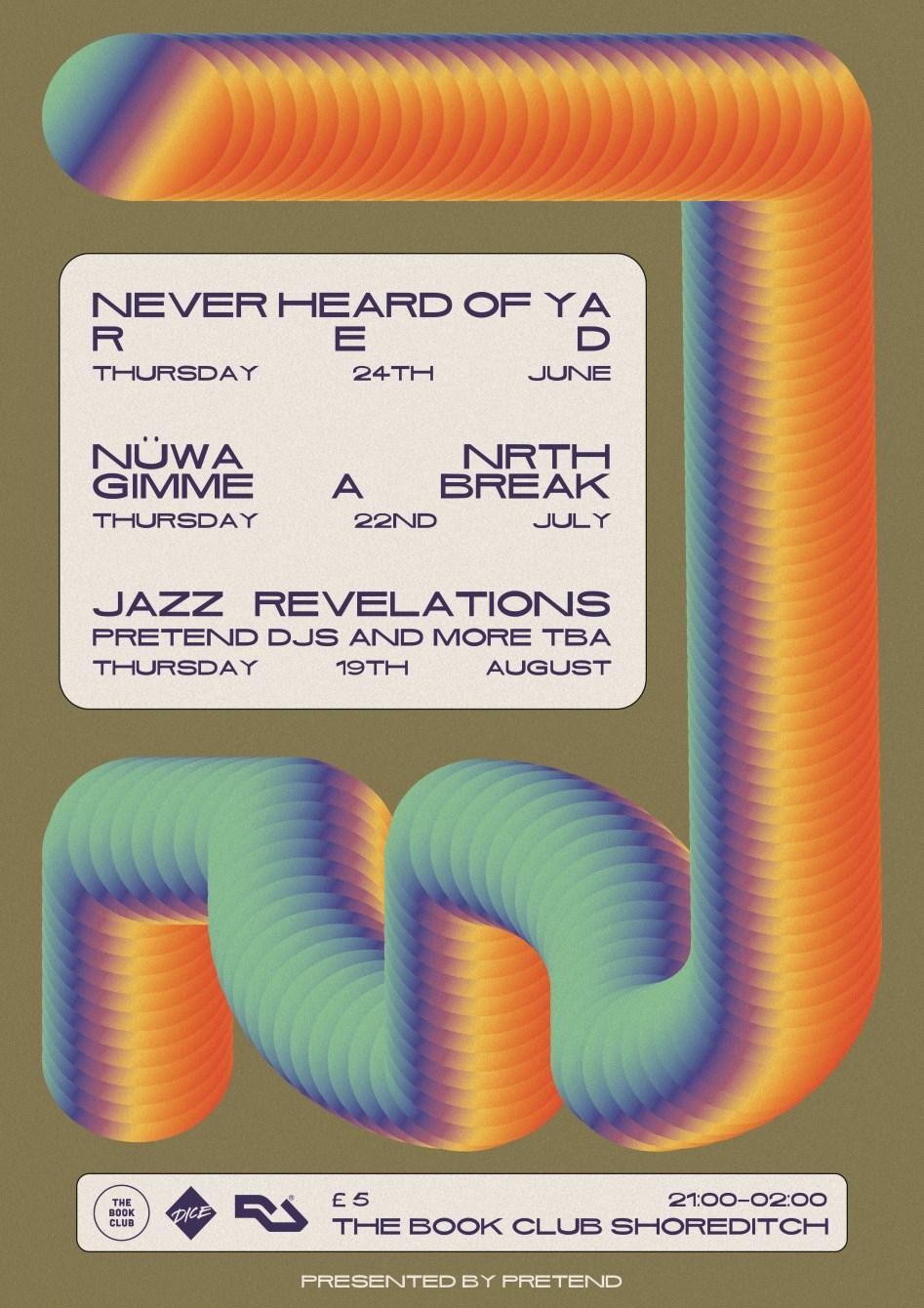 Pretend with Jazz Revelations - Flyer back