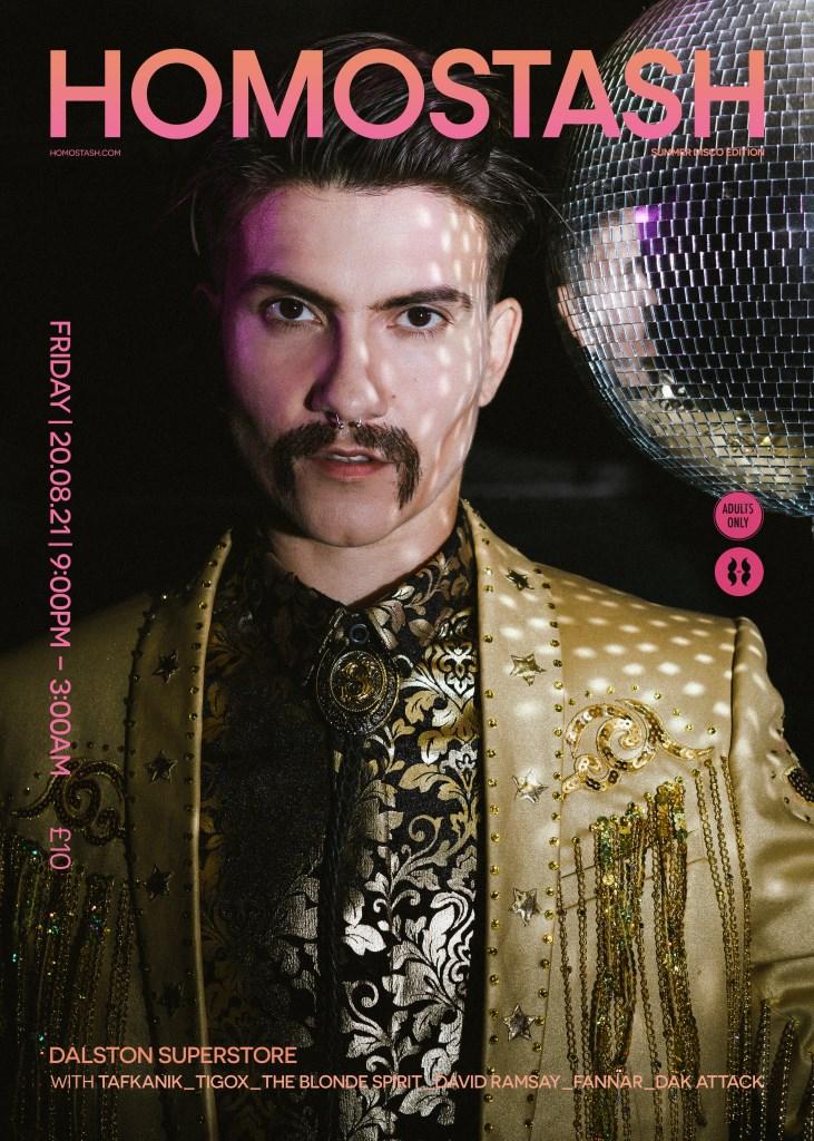Homostash Summer Disco - Flyer front