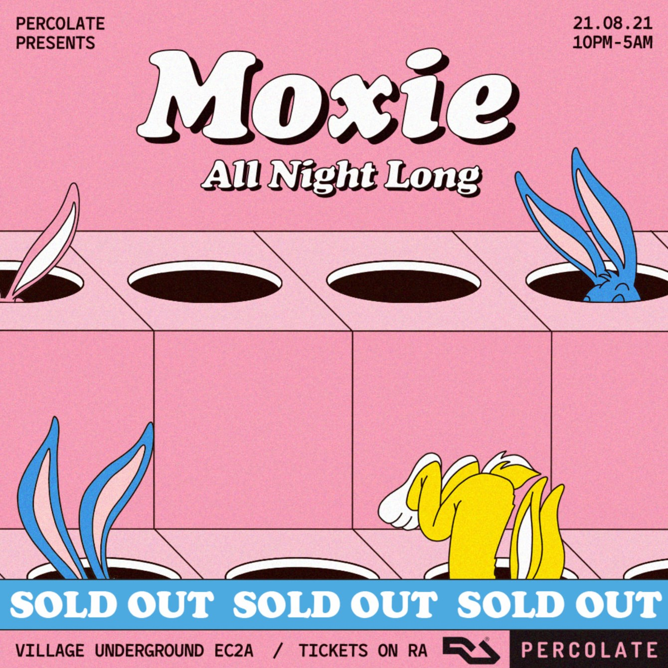 Moxie [All Night Long] [Sold-Out] - Flyer front