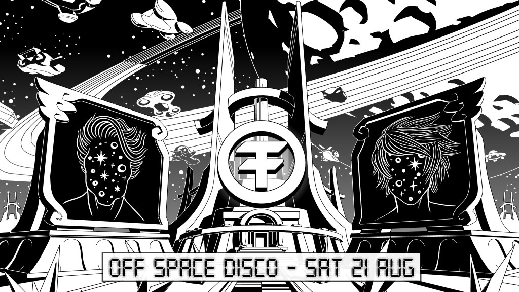 OFF London - Space Disco - Flyer front