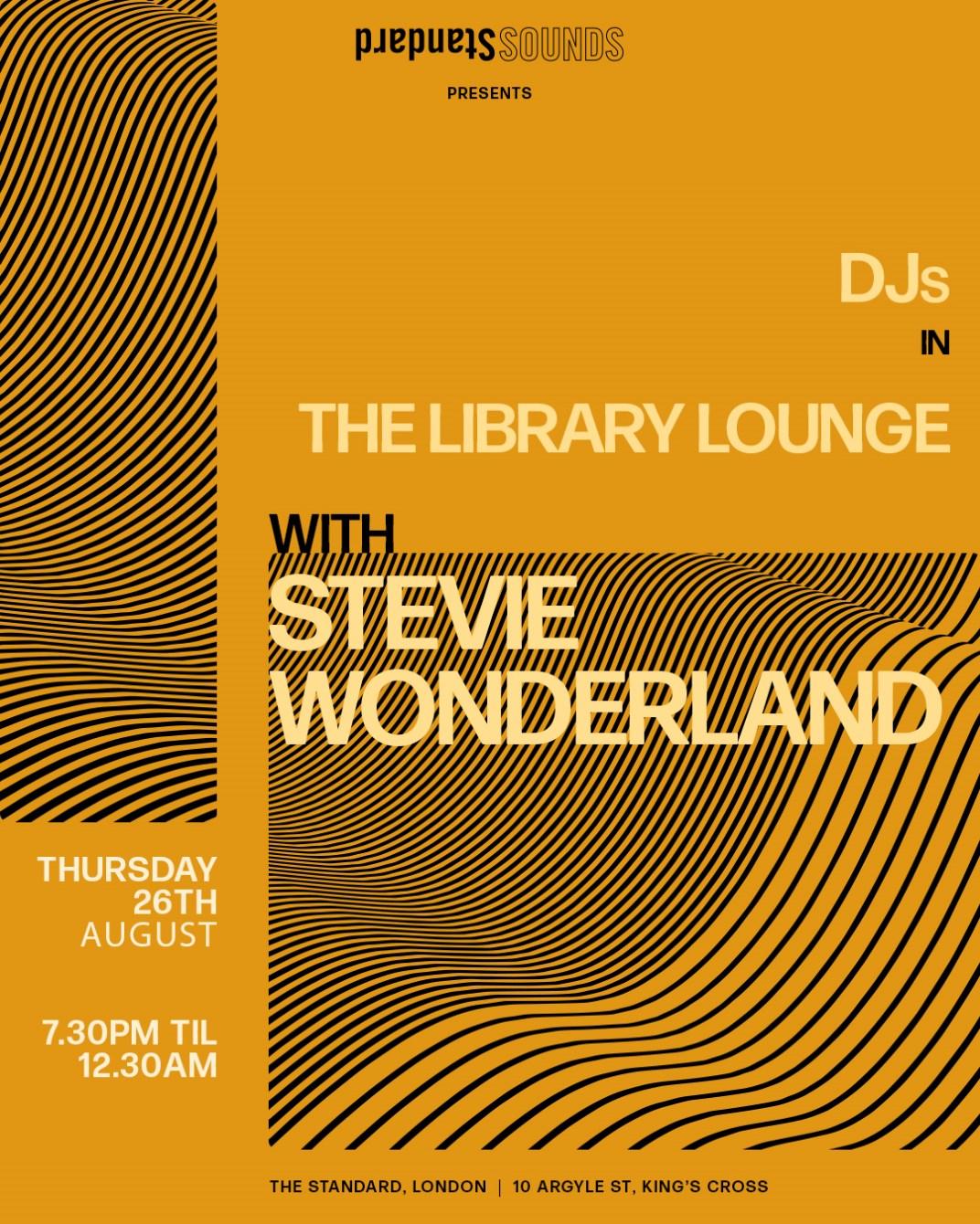 Standard Sounds presents: Stevie Wonderland - Flyer front
